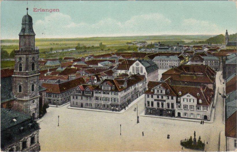 Erlangen, Luitpoldplatz, heute Hugenottenplatz (Hugo)
